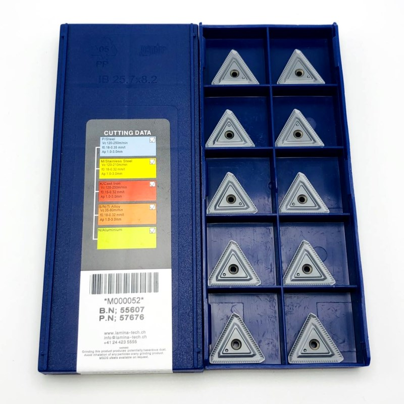 Токарная пластина TPKR 2204, твердосплавный инструмент PDTR LT30, для токарных станков