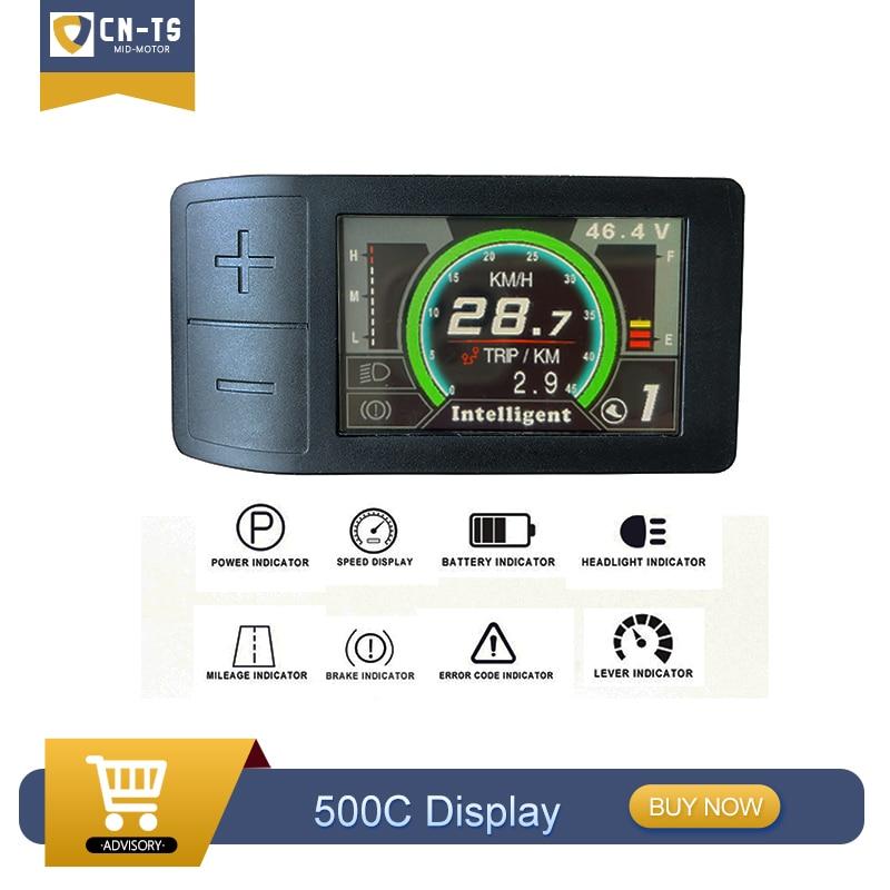 Tongsheng TSDZ2 Mid Drive Motor 500C Lcd-kleurenscherm Display Voor Tongsheng Mid Drive Motor Conversie Kit