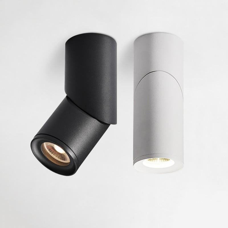 عكس الضوء الدورية LED دوونلايتس 10W15W20W COB السقف أدى بقعة أضواء AC110-220V أدى الجدار مصباح الدافئة الباردة الأبيض داخلي الإضاءة