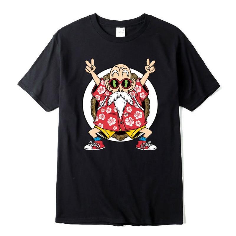 Camiseta 100% de algodón para hombre, camiseta Casual a la moda de alta calidad con estampado de Goku de Dragon Ball Z, camiseta para hombre, ropa de marca Harajuku, camisetas divertidas