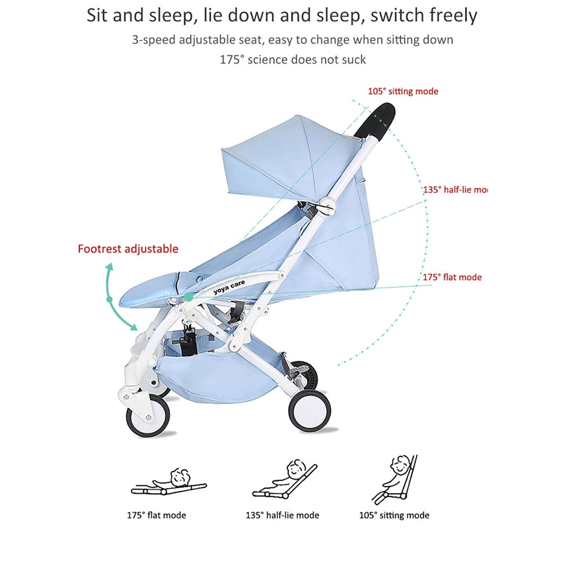 Yoya Care Wider Baby Stroller Lightweight Folding-Sit Lie-Baby Kids' Hand Push Simple Ultra-Compact Portable Walking Baby Buggy enlarge