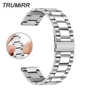 Hand Detach Stainless Steel Band for Samsung Galaxy Watch 46mm Gear S3 Frontier Classsic Watchband Middle Polish Strap Wristband