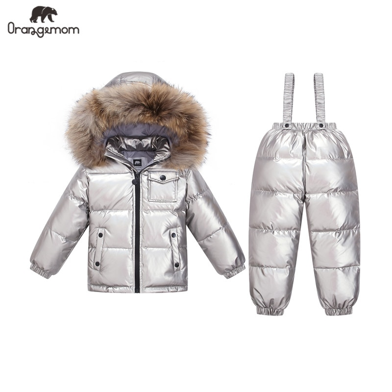 Orangemom Russia Winter Children's Clothing Sets Girls Clothes New Year's Eve Boys Parka Kids Jackets Coat Down Snowsuit 2-6Year enlarge