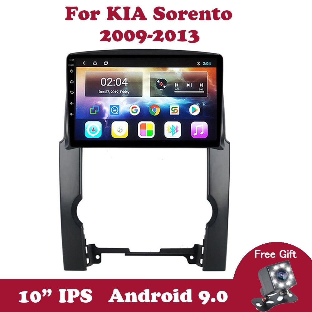 "Unidad de cabeza de Radio de coche Android 9 para Kia Sorento 2 XM 2009 2010 2011 2012 reproductor Multimedia 10,1 ""IPS GPS de navegación con pantalla táctil"