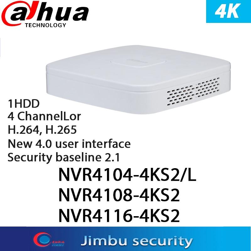 داهوا NVR شبكة مسجل فيديو 4CH NVR4104-4KS2/L & 8CH NVR4108-4KS2 & 16CH NVR4116-4KS2 4K & H.265 8-قناة فك