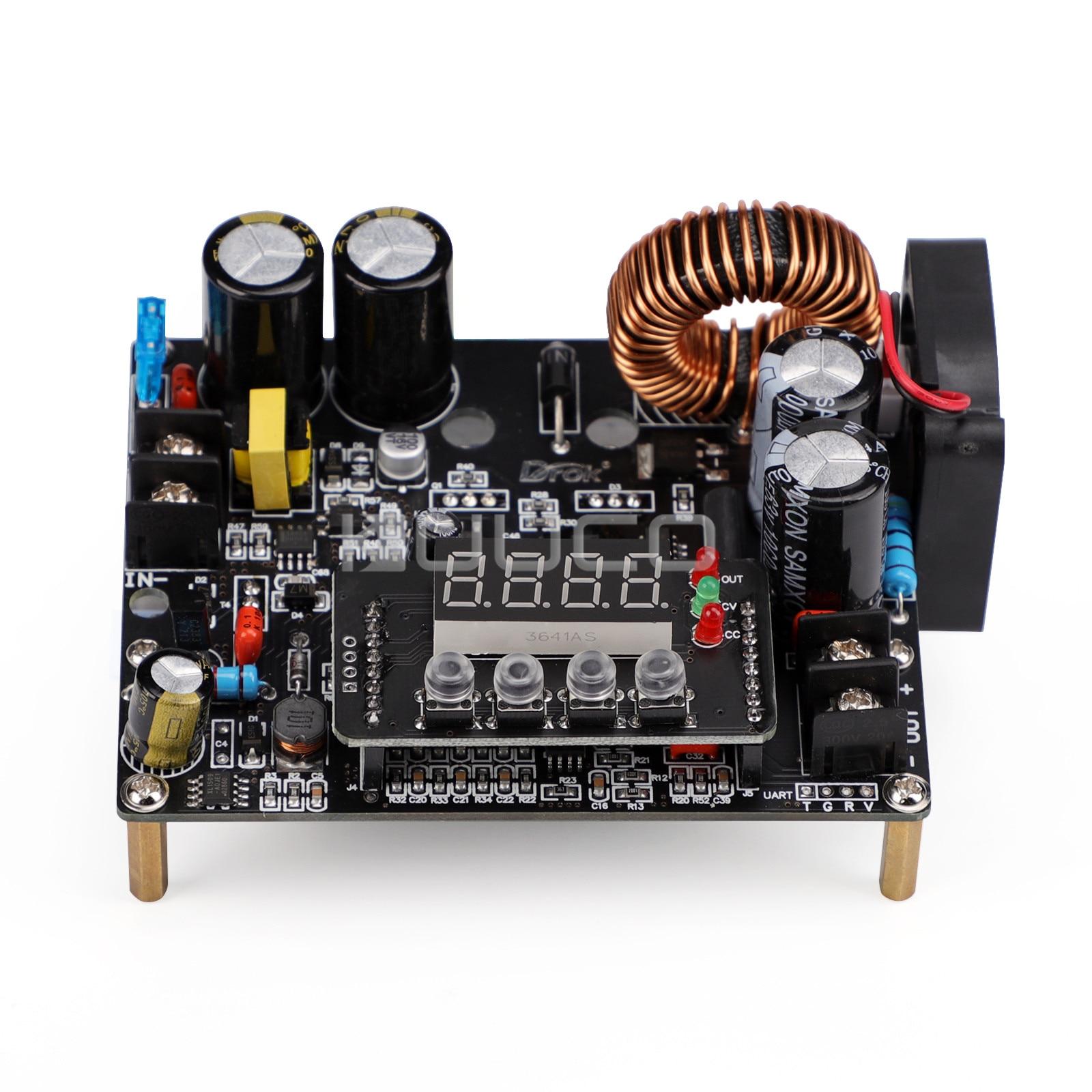 DROK-وحدة إمداد الطاقة الرقمية ، منظم الجهد 12 فولت 24 فولت 36 فولت 48 فولت تيار مستمر 10-65 فولت إلى 0 ~ 60 فولت 12 أمبير 720 واط ، محول CNC