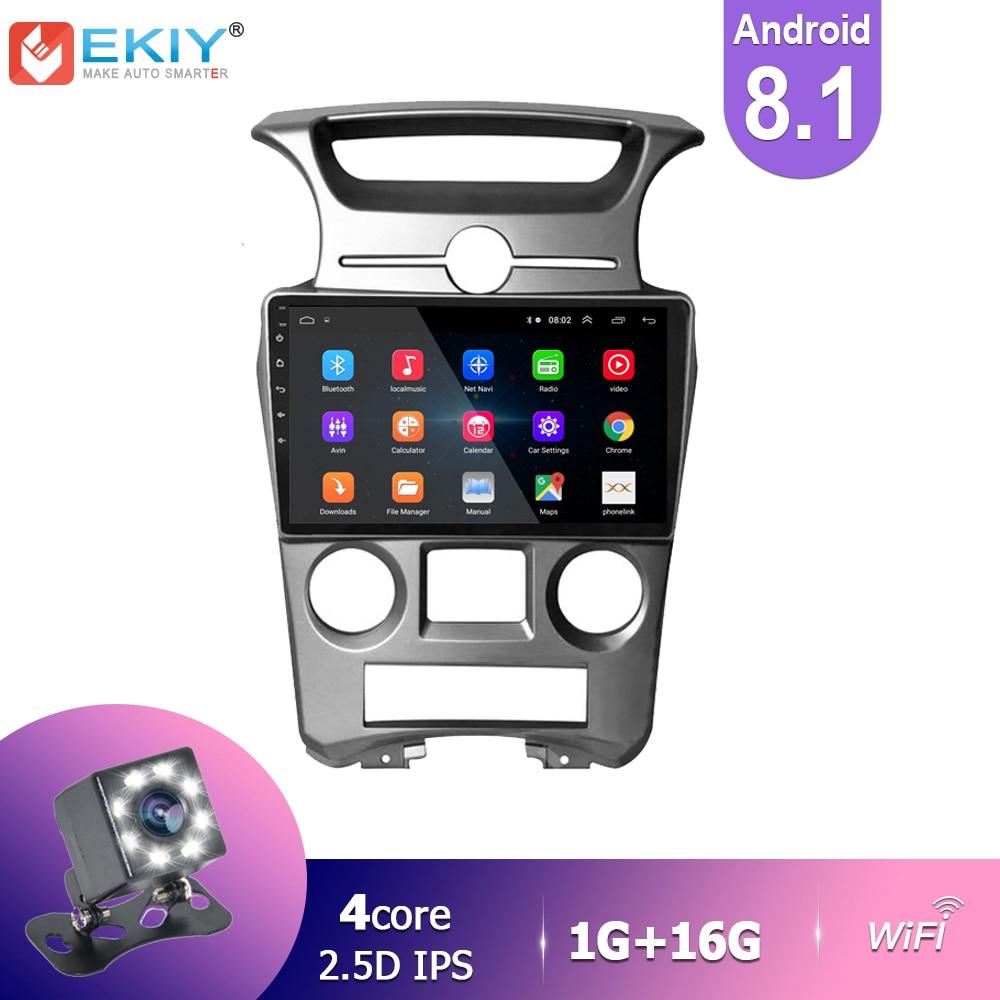 EKIY IPS Android 8,1 para Kia Carens 2007-2011 auto Radio Multimedia reproductor de Video GPS navegador estéreo BT Wifi Cámara 2 Din DVD