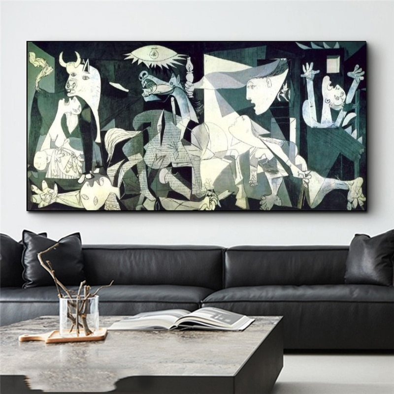 Famous Guernica By Picasso Canvas Paintings Posters and Prints Reproductions Picasso Wall Art Pictures for Living Room Decor недорого