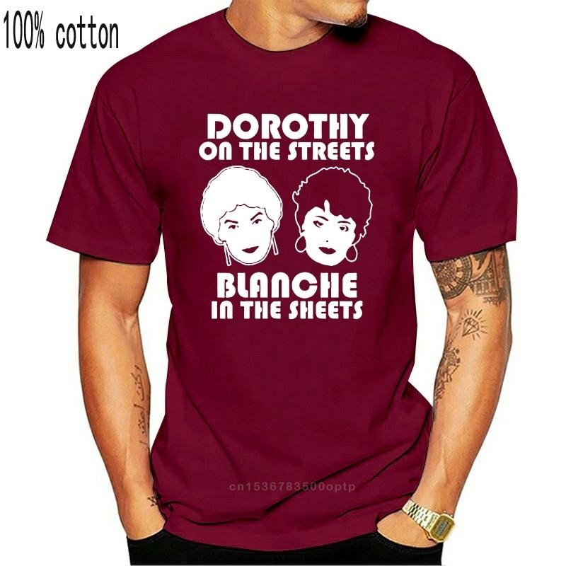 As meninas douradas dorothy nas ruas blanche nas folhas preto camiseta quente verão casual camiseta