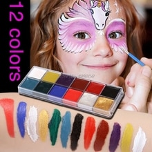 Gros livraison directe professionnel visage corps 12 couleurs peinture à lhuile peinture Pigment pour Kit de beauté maquillage fournitures cosmétiques