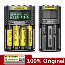 NITECORE UMS2 UMS4 UM2 UM4 SC4 Intelligent QC Charger For 3.7V 18650 16340 21700 20700 22650 26500 18350 AA AAA Battery Charger