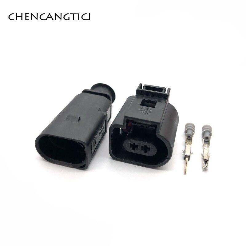 Набор из 5 шт., 2-контактный разъем 1,5 мм, 1J0973802 1J0973702, датчик температуры автомобиля, заглушка, клапан, водонепроницаемый Электрический провод, разъем