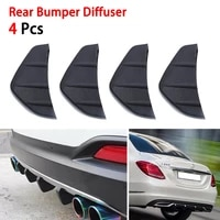4pcs durable pvc car rear bumper diffuser scratch protector cover molding trim car styling modification deals auto accessories