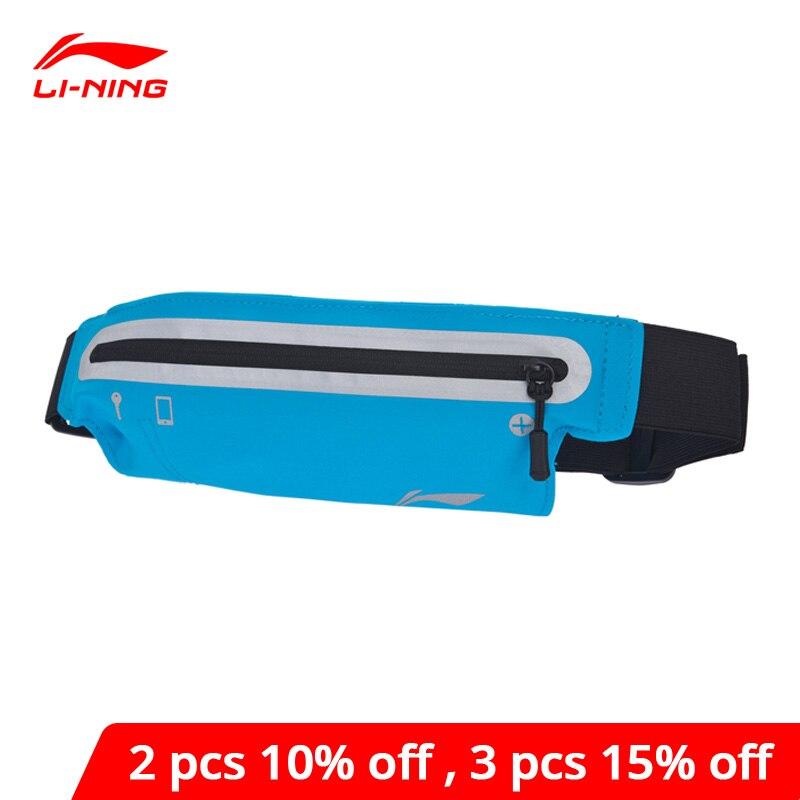 Li-ning, riñonera Unisex para correr, nailon reflectante, impermeable, forro para hombres y mujeres, riñonera deportiva Li Ning, ABLM026 BJY035
