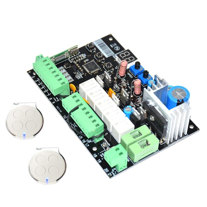 Placa base electrónica de 12V 24Vdc 12V, placa de circuito para doble ala, motor abrelatas automático de puerta oscilante, 12VDC