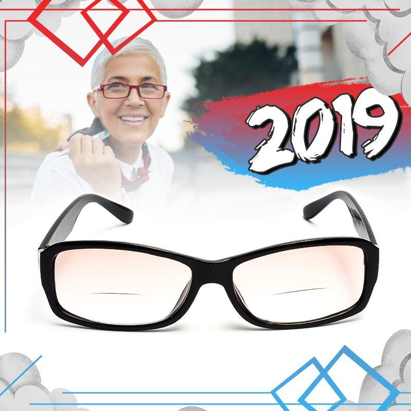 1PC Unisex ligero de doble función Bifocal gafas de lectura gafas transparentes ancianos de lectura gafas de cuidado de la visión