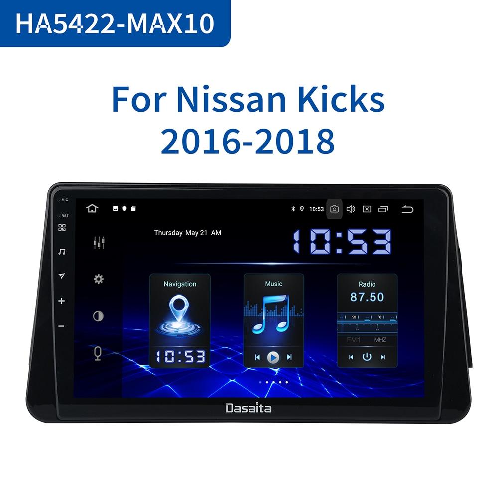 "Dasaita Android 10,0 coche Multimedia Video de 1080P 1 Din para Nissan patadas Micra GPS 2014, 2015, 2016, 2017 TDA7850 10,2 ""IPS MAX10"