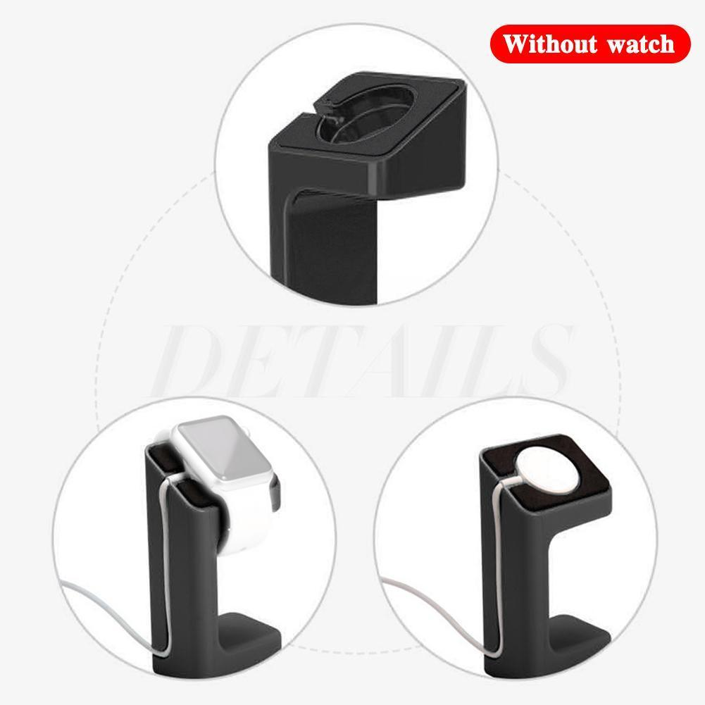 Charger Dock Station Holder Watch Band Mount Stand for Apple watch Series Charging Smart Watch Holder Smart Watch Charging Base ym wd05 c creative bamboo mobile phone smart watch charging holder multi function charger stand usb smartphone charging base