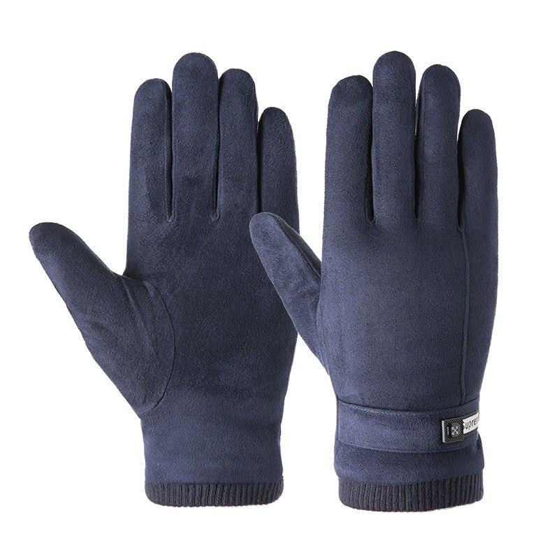 Новое поступление мужские перчатки теплые осенне-зимние бархатные мягкие теплые велосипедные перчатки для сенсорных экранов мужские перч...
