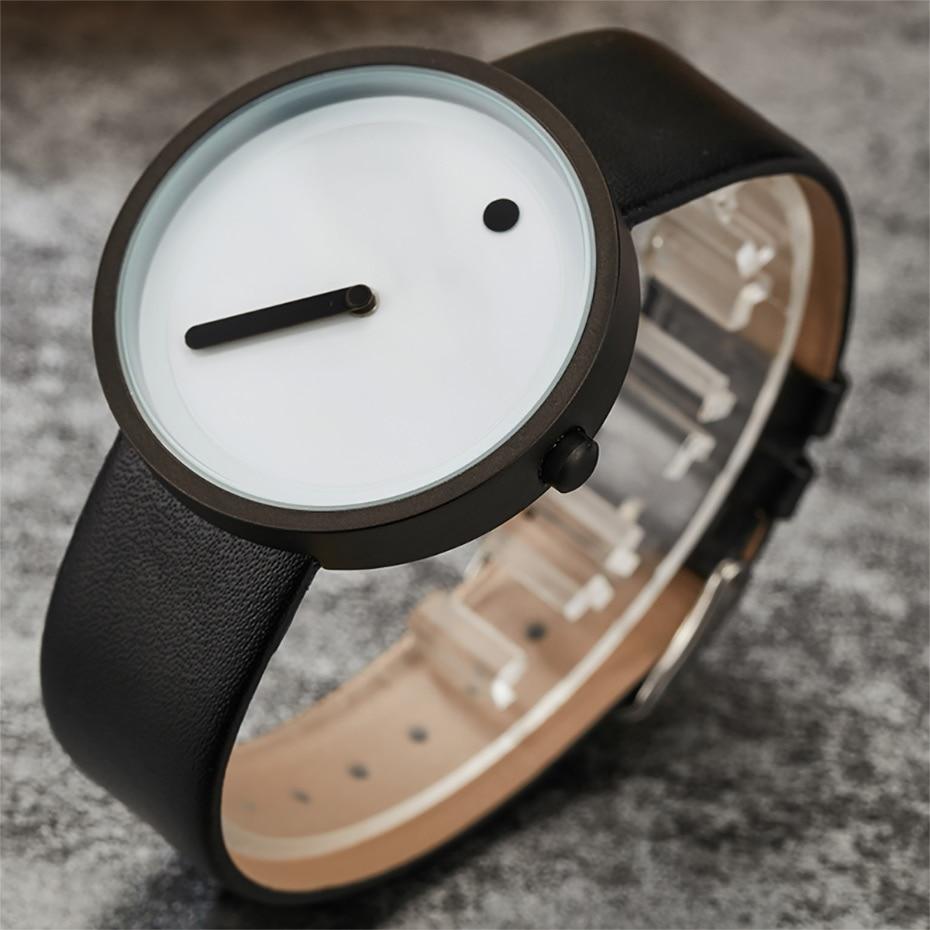 2020 homens simples relógios casuais paidu moda criativa dot relógios de couro relógio de quartzo preço barato dropship reloje hombre