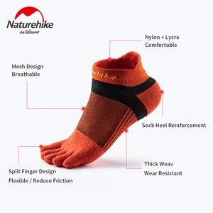Naturehike Five Finger Running Socks Men and Women Coolmax Fabric Sport Socks Marathon Basketball Track and Field Equipment