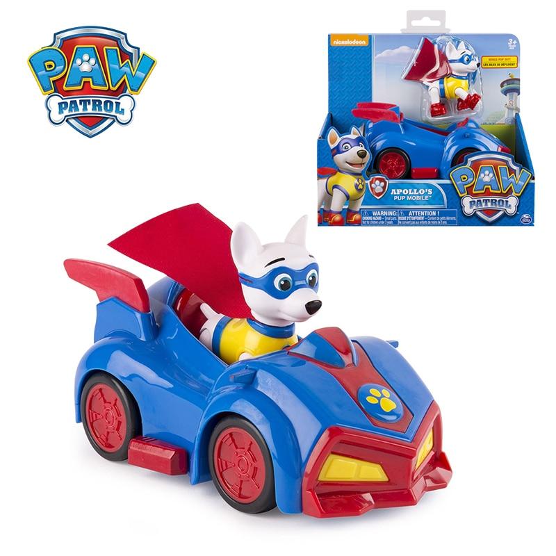 Patte patrouille Apollo véhicule de sauvetage voiture Figure danime jouet Patrulla Canina jouets figurine daction patte patrouille anniversaire garçons cadeaux