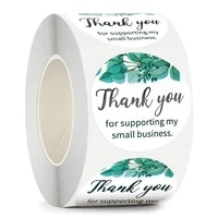 500pcsroll thank you sticker sealing labels for supporting my small business round business packaging labels stationery sticker