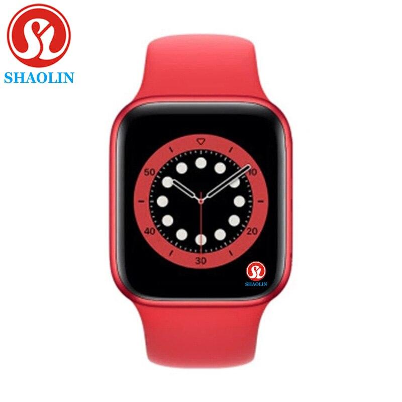 الرجال سلسلة الساعات الذكية 6 رسالة تذكير عبر بلوتوث ل أبل ساعة آيفون 7 8 X أندرويد سامسونج ساعة الهاتف Smartwatch