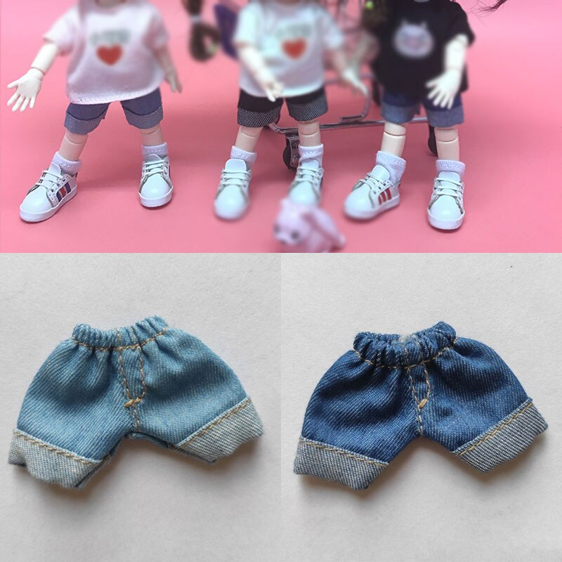Ob11 ropa de bebé zapatos de bebé cabeza de niña 1/8 1/12 BJD ob11 shouwu pantalones cortos vaqueros ropa de muñeca pantalones vaqueros accesorios de muñeca