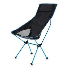 خفيفة الوزن المحمولة كرسي تخييم في الهواء الطلق للطي الظهر عالية الظهر مخيم الكراسي مع مسند الرأس للمشي نزهة الشاطئ