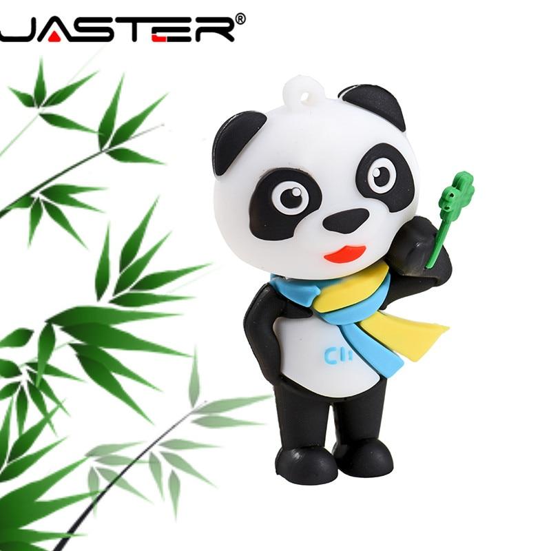 JASTER nueva 2019 USB 2,0 de dibujos animados Pandaren Modelo USB Flash Drive 1 GB 2GB 4GB 8GB 16GB 32GB 64GB 128GB pendrive Stick de memoria de regalo de Navidad