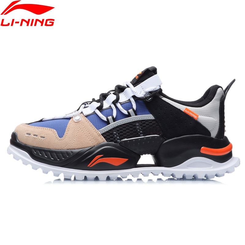 Li-Ning Men WARRIOR Stylish Lifestyle Shoes Wearable Urban Outdoor LiNing Sport Hiking Shoes Leisure Sneakers AGLR011