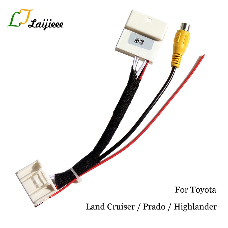 24 Pin Reverse Camera Interface For Toyota Land Cruiser / Prado / Highlander OEM Monitor Nondestructive Install Rear view Camera