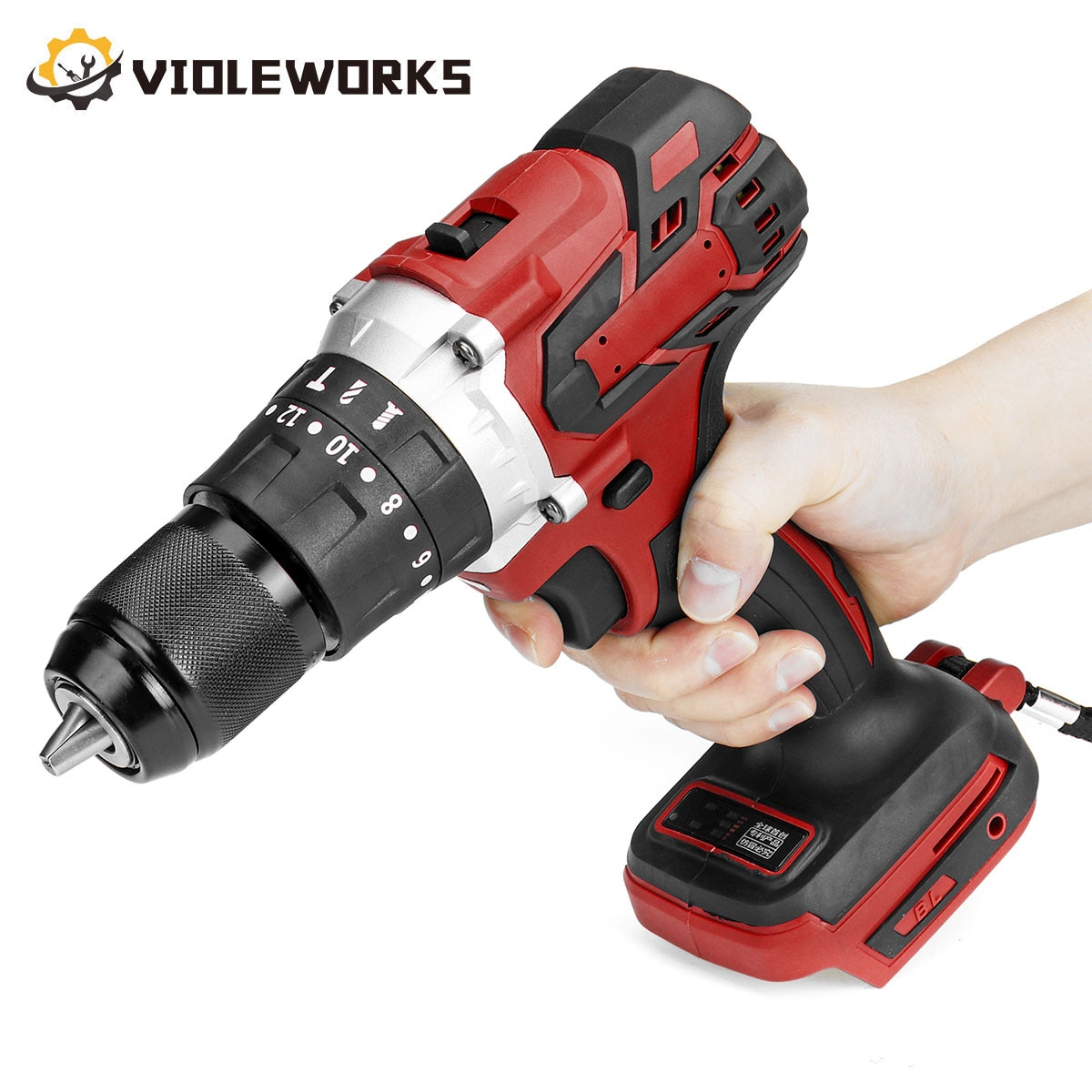 Brushless Electric Screwdriver Drill 3 In 1 20+3 Torque 13mm Cordless Impact Drill Hammer with LED Light for Makita 18V Battery 3 in 1 13mm brushless electric hammer drill electric screwdriver 20 3 torque cordless impact drill for makita 18v battery