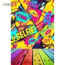 Laeacco Pop Art Comic Speech Bubbles Grunge Photography Backgrounds Vinyl Custom Camera Photographic Backdrops For Photo Studio