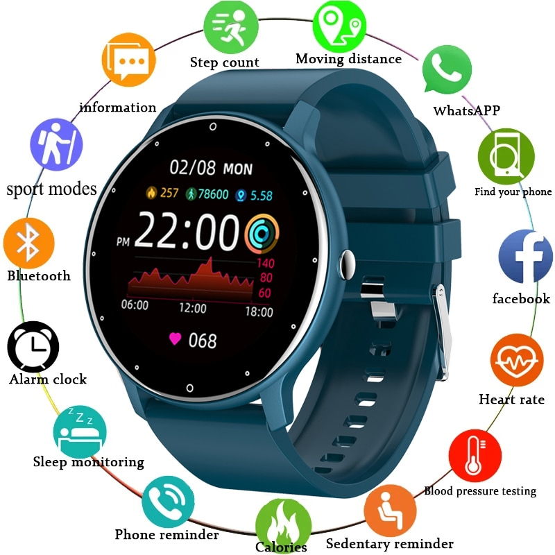 LIGE 2021 موضة ساعة ذكية السيدات معدل ضربات القلب ضغط الدم متعددة الوظائف الرياضة ساعة الرجال امرأة مقاوم للماء Smartwatch النساء