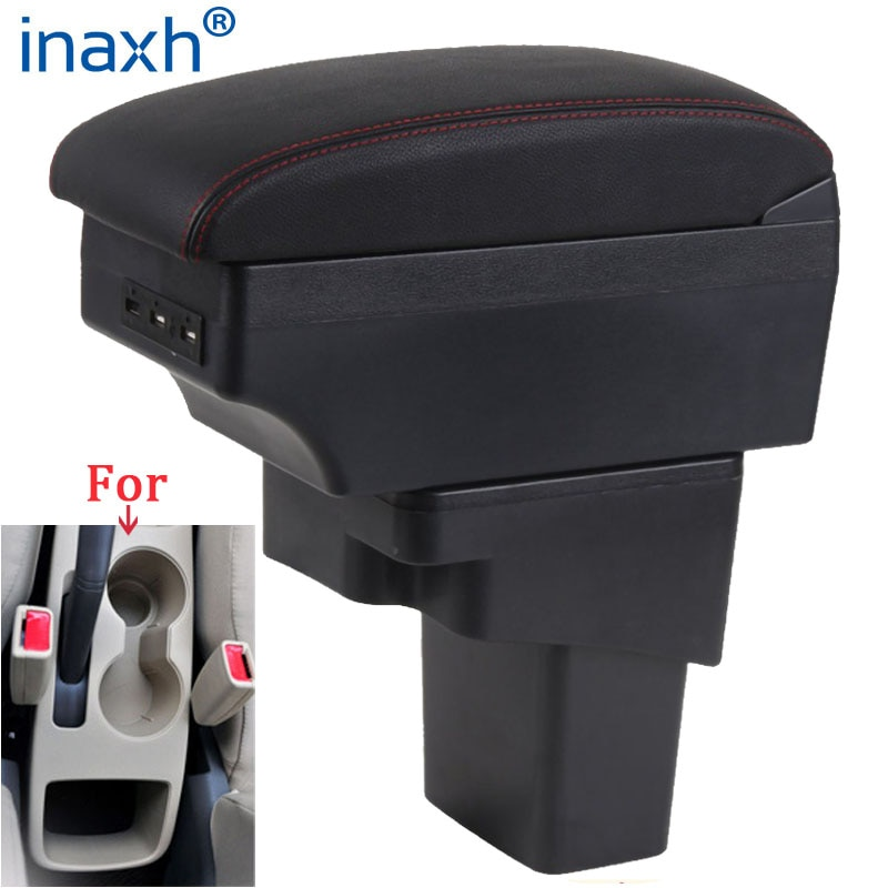 For Hyundai SOLARIS Armrest 2013 2014 2015 2016 Car Armrest box Retrofit parts Storage box car accessories Interior with USB LED for suzuki swift armrest box 2005 2019 car armrest car accessories interior storage box retrofit parts usb 2011 2014 2017 2018