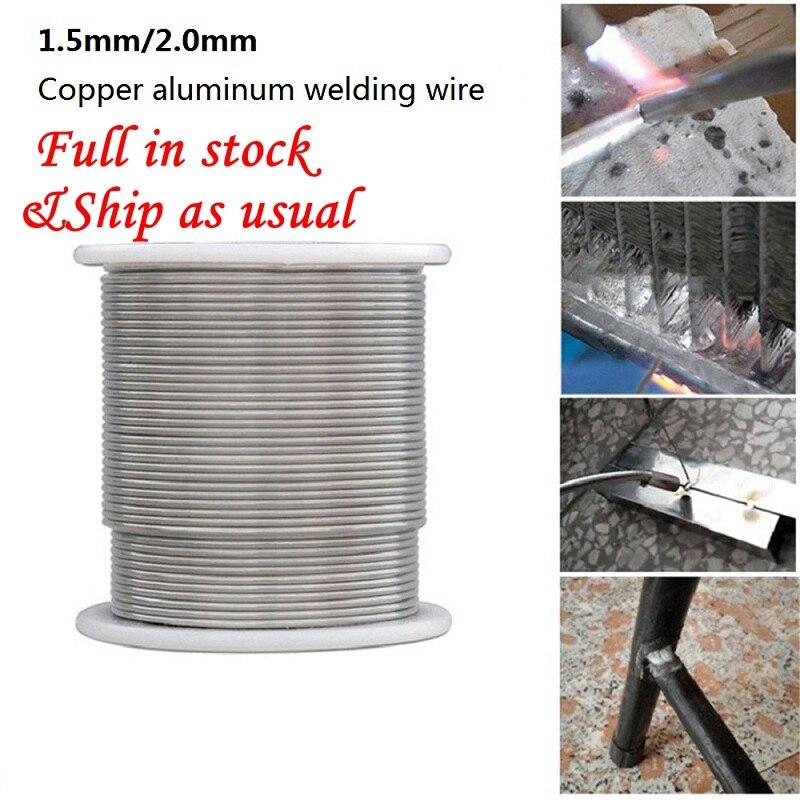 Alambre de soldadura de 1,6/2mm, alambre de soldadura de cobre de baja temperatura, varilla de soldadura con núcleo de flujo de electrodo para reparación