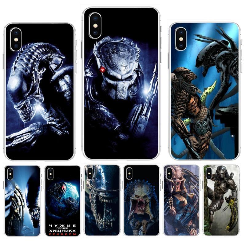 Fhnblj estrangeiro vs predator preto caso de telefone celular para iphone 11 pro xs max 8 7 6s plus x 5 5S se xr se2020
