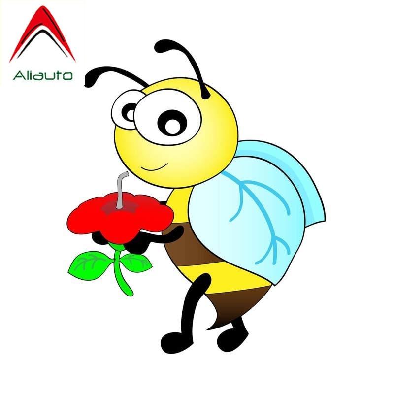 Aliauto divertido coche pegatina miel abejas recoger Etiqueta de personajes animados accesorios...