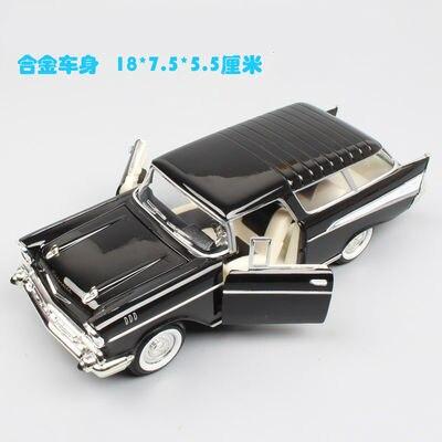 1957 Chevrolet Nomad vintage coche en miniatura de aleación simulación de coches clásicos juguetes, recuerdos, coleccionables, regalos
