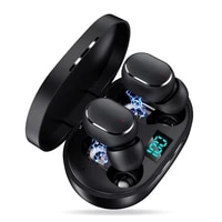 e6s smart digital display bluetooth headset wireless mini hifi headset stereo in ear waterproof sports earphone fone bluetooth