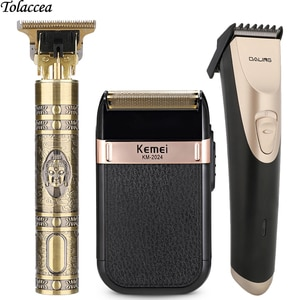 Professional Hair Clipper Men's Barber Electric T-Outliner Hair Cutting Machine Beard Trimmer Shaver Cordless Corded Hair Cutter