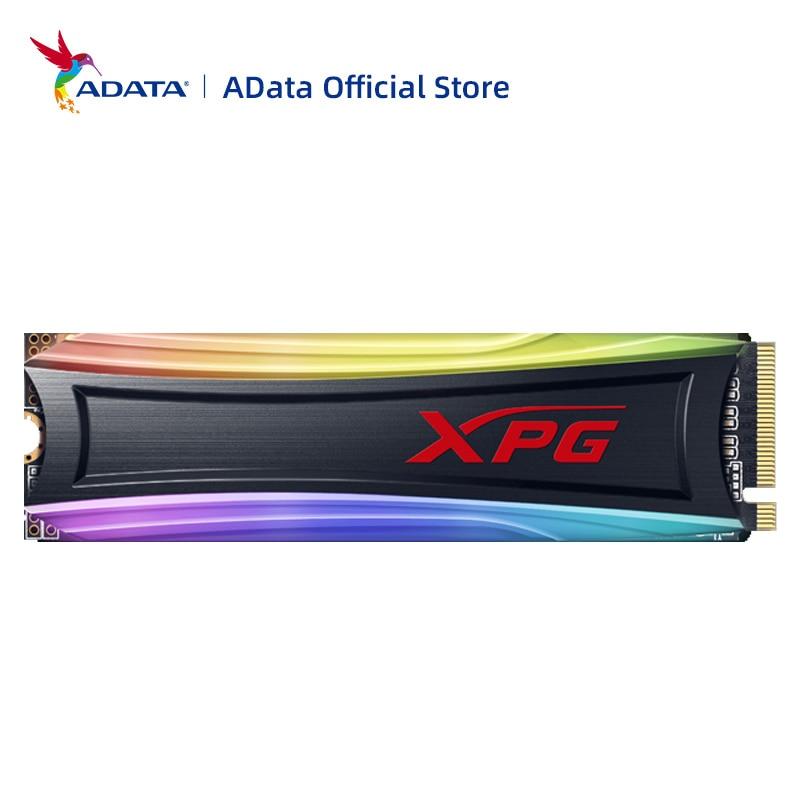 SSD-Накопитель SSD ADATA XPG SPECTRIX S40G RGB M2 NVMe 256 ГБ 512 ТБ M.2 2280 PCIe Внутренний твердотельный накопитель для ноутбука, настольного компьютера   Компьютеры и офис   АлиЭкспресс