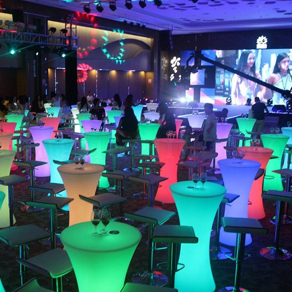 جديد قابلة للشحن LED الإضاءة الأثاث التحكم عن بعد في الهواء الطلق مربع طاولة مشروبات بار KTV بار ديسكو الأثاث الإمدادات