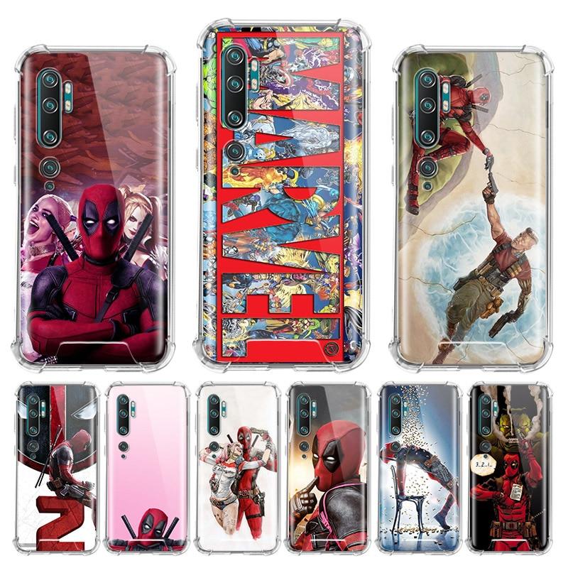 Deadpool Marvel Case for Xiaomi Mi Note 10 Pro 5G 9T A3 A2 8 Lite CC9 CC9E Poco X2 F1 Airbag Anti Cas Phone Capas