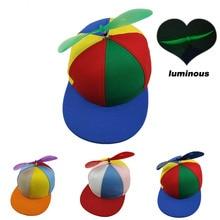 Funny Helicopter Propeller Baseball Caps Colorful Patchwork Cap Sun Children Boys Girls Snapback Hat