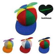 Забавный вертолет пропеллер бейсболки красочные лоскутные кепки солнце детей мальчиков девочек Snapback шляпа