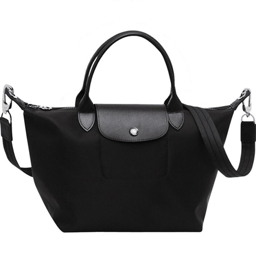 Women's bag nylon genuine leather foldable waterproof  bolsas messenger shoulde tote bag woman 2020 brand Bolsas Handbags