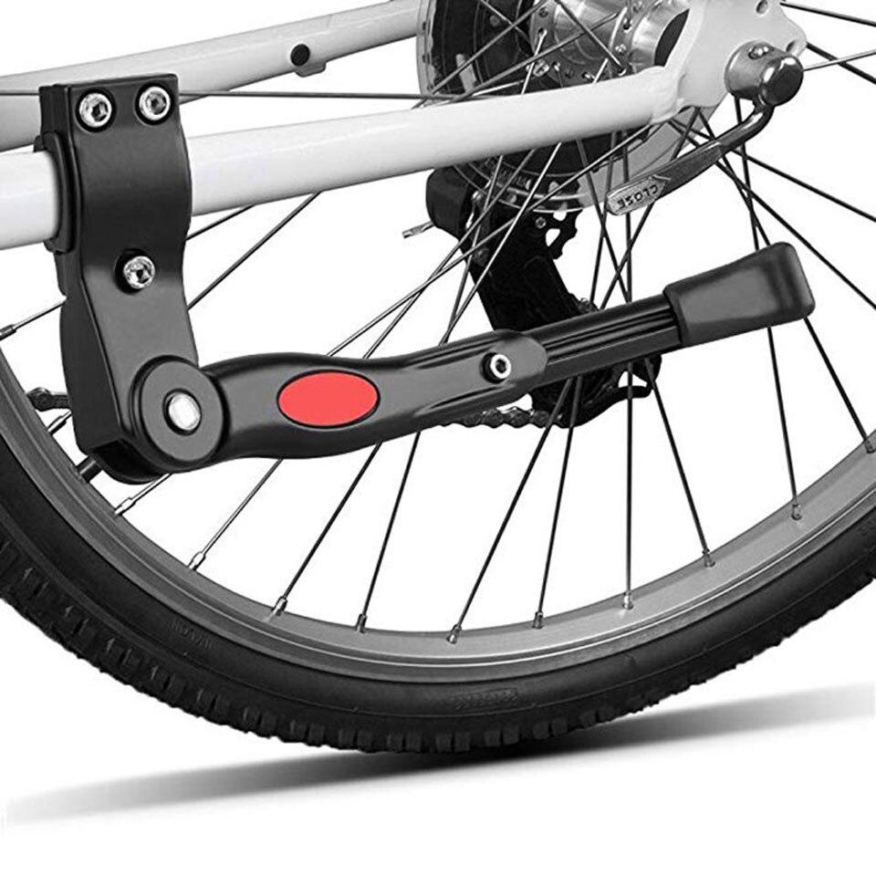 1Pcs Black/White Adjustable MTB Road Bicycle Kickstand Parking Rack Mountain Bike Support Side Kick